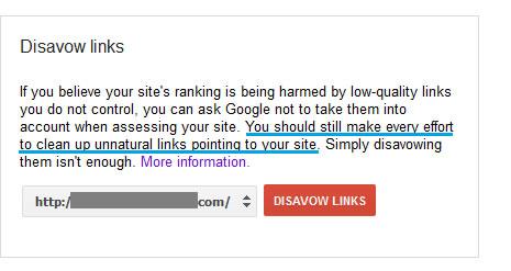 The Google Disavow Tool