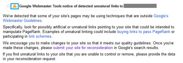The Google Penguin warning in GWT