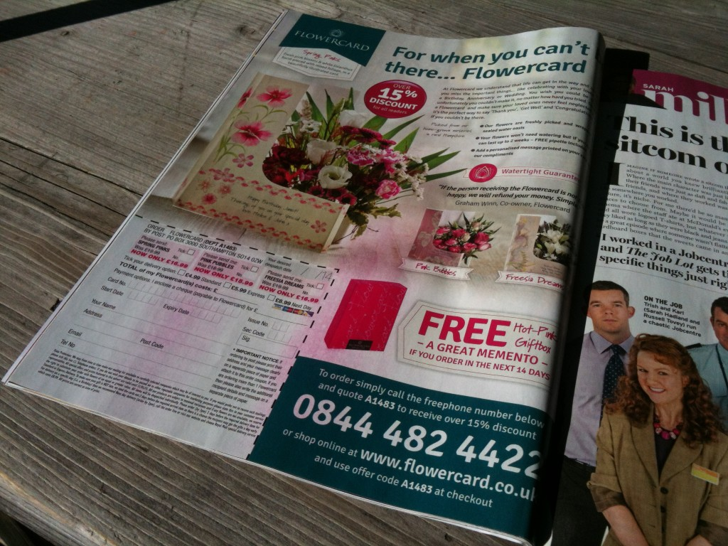 Flowercard Ad in The Radio Times